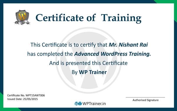 Advanced WordPress Training Program - WordPress Trainer